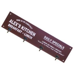 木製ハンガーフックボード(ブラウン) 壁掛け キーハンガー インテリア アメリカ雑貨 アメリカン雑貨|texas4619