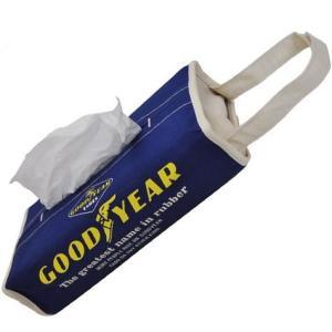 コットン・ティッシュカバー(GOOD YEAR) グッドイヤー ティッシュケース アメリカ雑貨 アメリカン雑貨|texas4619