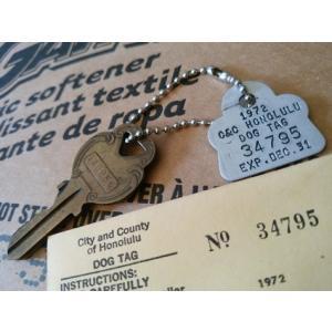 ホノルル ハワイ ドッグタグ キーホルダー '72デッドストック HAWAII HONOLULU DOG TAG アメリカ雑貨 アメリカン雑貨 texas4619