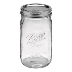 メイソンジャー ワイドマウス 32oz オリジナル(クリア) Ball社 Mason jar キッチン アメリカ雑貨 アメリカン雑貨|texas4619