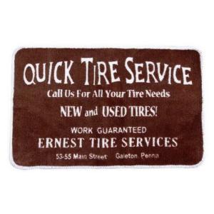 フロアマット(QUICK TIRE SERVICE) インテリア アメリカ雑貨 アメリカン雑貨|texas4619