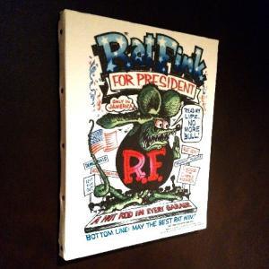 ラットフィンク アートキャンバス(PRESIDENT)(M SIZE) RAT FINK インテリア アメリカ雑貨 アメリカン雑貨|texas4619