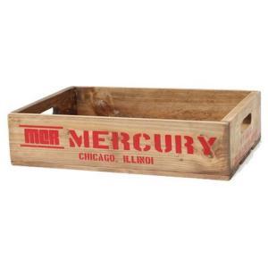 MERCURY リサイクルウッドクレート(レッド) マーキュリー ウッドボックス 木箱 アメリカ雑貨 アメリカン雑貨|texas4619