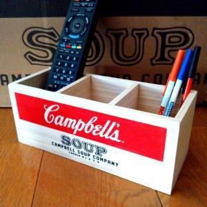 キャンベルスープ ウッドボックス(Sサイズ) 木箱 Campbell's 収納 アメリカ雑貨 アメリカン雑貨|texas4619