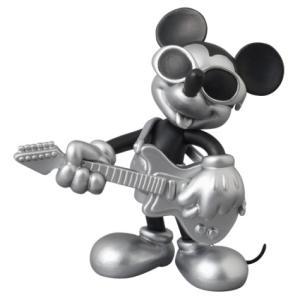 UDF ミッキーマウス(グランジロックVer.) BLACK & SILVER Ver. メディコムトイ ロエンコレクション フィギュア|texas4619