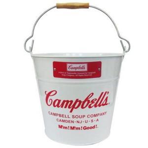 キャンベル バケツ (ホワイト) Campbell's インテリア アメリカ雑貨 アメリカン雑貨|texas4619