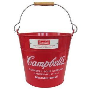 キャンベル バケツ (レッド) Campbell's インテリア アメリカ雑貨 アメリカン雑貨|texas4619