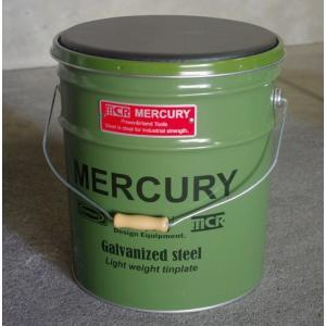 MERCURY オイル缶スツール(カーキ) 椅子 収納 マーキュリー アメリカ雑貨 アメリカン雑貨 texas4619