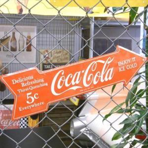 コカ・コーラ アローサインプレート Coca Cola 看板 インテリア アメリカ雑貨 アメリカン雑貨|texas4619