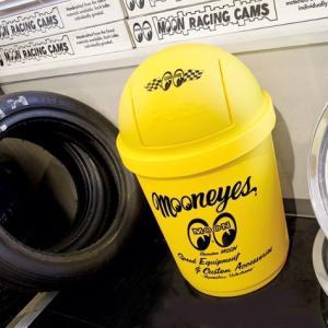 MOONEYES 35Lダストボックス(イエロー) ムーンアイズ ゴミ箱 ダストビン アメリカ雑貨 アメリカン雑貨|texas4619