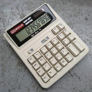 MERCURY ソーラー カリキュレーター(ベージュ) 電卓 計算機 マーキュリー アメリカ雑貨 アメリカン雑貨|texas4619