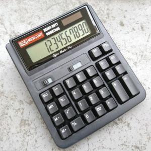 MERCURY ソーラー カリキュレーター(ブラック) 電卓 計算機 マーキュリー アメリカ雑貨 アメリカン雑貨|texas4619