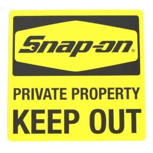 スナップオン Snap-on ステッカー(KEEP OUT) アメリカ雑貨 アメリカン雑貨 texas4619
