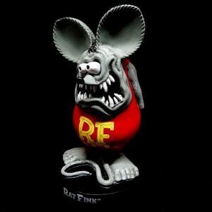 ラットフィンク スタンディングスタチュー グレー RAT FINK フィギュア アメリカ雑貨 アメリカン雑貨|texas4619