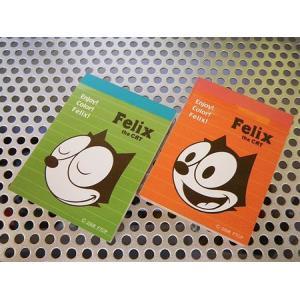 フィリックス ミニメモ帳(2冊セットC) FELIX 文具 アメリカ雑貨 アメリカン雑貨|texas4619