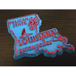 アメリカ 州型マグネット(ルイジアナ州) アメリカ雑貨 アメリカン雑貨 texas4619