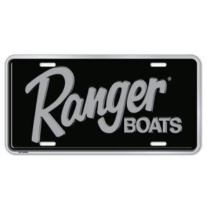 Ranger BOATS コマーシャルプレート(BK/SV) バスフィッシング 釣り アメリカ雑貨 アメリカン雑貨|texas4619