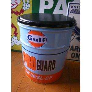 ガルフ オイル缶スツール(B) Gulf 世田谷ベース アメリカ雑貨 アメリカン雑貨 texas4619