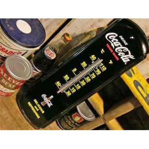 コカ・コーラ サーモメーター 温度計(ブラック) Coca Cola インテリア アメリカ雑貨 アメリカン雑貨|texas4619