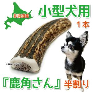 小型犬用 蝦夷鹿の角 『鹿角さん』 半割りタイプ 1本 天然 無添加 北海道産 犬のおもちゃ かむおもちゃ エゾ鹿 エゾシカ ツノ デンタル|tezukuriyasan
