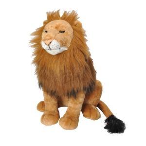 存在感抜群!!抱き枕にも最適で置物などのインテリアにも適しているライオンの特大ぬいぐるみは、生き物へ...