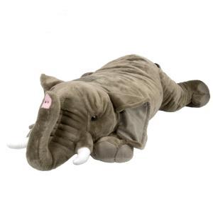 存在感抜群!!抱き枕クッションにも最適でインテリアにも適しているアフリカゾウの特大ぬいぐるみは、生き...