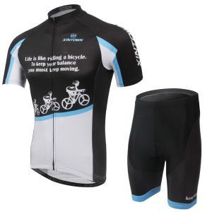 サイクルジャージ メンズ 夏 半袖 上下セット サイクルウェア 17ss01-BB|tfashion