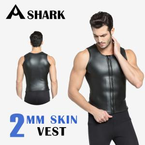 Airfric ウェットスーツ メンズ ベスト 2mm スキン 高級素材 マリンスポーツ サーフィン シュノーケリング ダイビングcrd01|tfashion