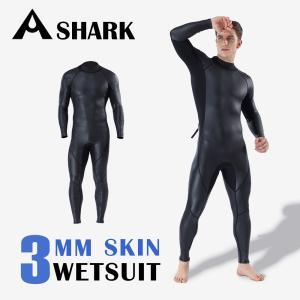 Airfirc ウェットスーツ 3mm フルスーツ サーフィン メンズ 高級素材 CRスキン 超伸縮性 マリンスポーツ ダイビング シュノーケリング 交換対応 crd06|tfashion
