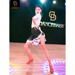 DaisyDance 社交ダンスドレス ラテンドレス 競技ダンスドレス ラテン上下セット フリンジ デモ用 パーティー用 練習用 DA559T|tfashion