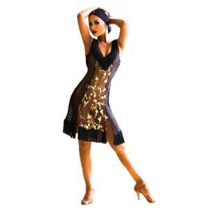 DaisyDance 社交ダンスドレス ラテンドレス2点セット 競技ダンスドレス デモ用 パーティー用 レッスンウェア UA36|tfashion