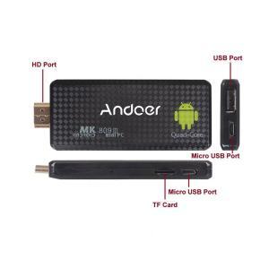 Andoer MK809III ブルートゥース Android(アンドロイド)4.4 テレビドングル...