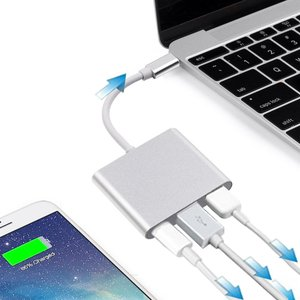 Wigwang Type-C to HDMI変換アダプタUSB3.0ハブType Cポート3-in-...