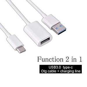 Fosa 2 in 1 USB3.1 Type-CオスUSB-Aオス&USB 3.0メスOTGハブス...