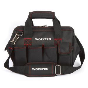 WORKPRO 工具袋 大口収納ツールバッグ 300mm W081020AJ 開口部が大きく出し入れ...