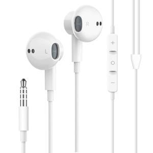 2019新型 イヤホン 高音質 イヤフォン 有線 カナル型 ヘッドフォン マイク内蔵 3.5 mm イアホン 抜群のフィット感 通話可能 音|tfizy45931