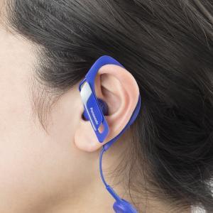 パナソニック ワイヤレスイヤホン Bluetooth 防滴仕様 マイク・リモコン付き スポーツ向け ブルー RP-BTS10-A|tfizy45931