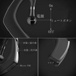 Bluetooth ヘッドセット ワイヤレス イヤホン Bluetooth イヤホン 片耳 ブルートゥースイヤホン 左右耳兼用 高音質 通話|tfizy45931