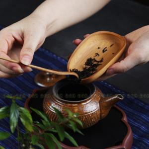 茶器 茶しゃく 茶芸 2点セット 竹 竹茶道具 茶杓 茶たく 携帯式 軽量 カンフー茶 茶具 旅行 ...