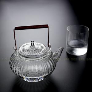 茶つぼ 茶壺 茶器 2点セット ガラス茶器 茶杯 茶器セット 茶芸 軽量 カンフー茶 茶具セット テ...