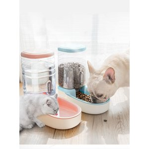 ペット用自動給餌器 給水器 ペット用品 犬猫兼用 餌やり 餌入れ 簡単設置 自動補給 犬用 猫用 ペ...