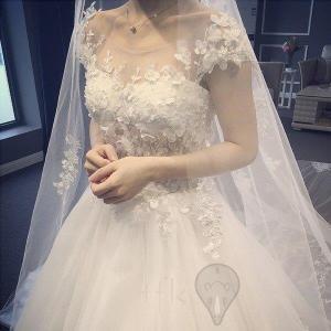 ウェディングドレス/ドレス/結婚式/二次会/ホワイト/花嫁/ウェディング/エンパイア/プリンセスドレ...
