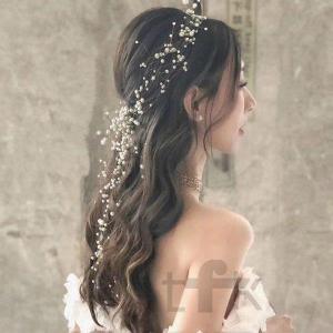 ヘッドドレス 花嫁 二次会 手作リ ウェディングドレス プリンセスドレス 素敵 首飾り 飾り物  ブ...