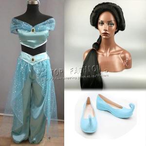 送料無料◆アラジンと魔法のランプ ジャスミン 風 コスチューム レディース コスプレ 衣装
