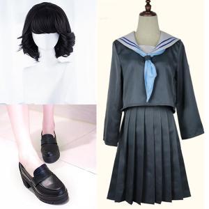 今日から俺は 赤坂理子 あかさかりこ 風 コスプレ衣装 ウィッグ 靴 演出服  セット COSPLA...