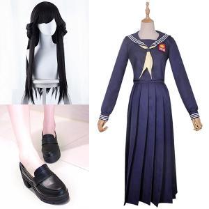 今日から俺は  早川京子 はやかわ きょうこ 風 コスプレ衣装 ウィッグ 靴    演出服  セット...