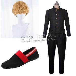 今日から俺は  三橋貴志 みつはしたかし 風 コスプレ衣装 ウィッグ 靴    演出服  セット C...