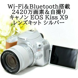 キヤノン Canon EOS Kiss X9 レンズキット シルバー SDカード付き EF-S 18...