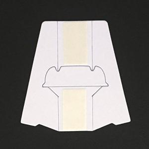 紙スタンドA7(幅広両面テープ付き) A7(タテ・ヨコ)対応 【20枚入】 業務パック <日本製品>|thanks-tuhan
