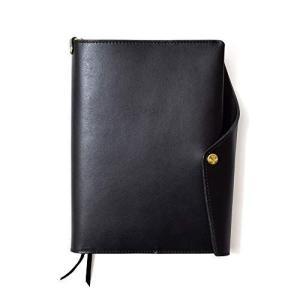 HUKURO 手帳カバー 本当に使える A5 本革 メンズ レディース 日本製 ブラック・黒糸|thanks-tuhan